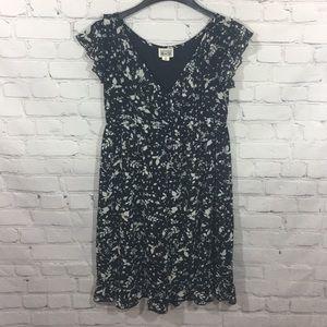 Converse One Star Black Floral Print Ruffle Dress